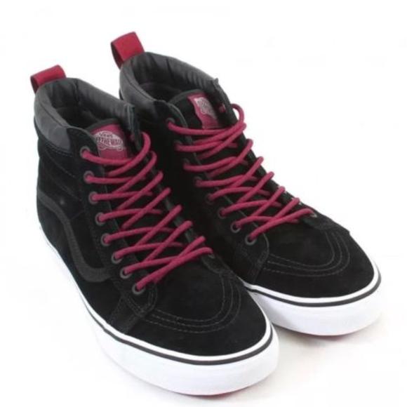 b0a78055658 Vans Sk8 Hi MTE Black Beet Red Suede🌹
